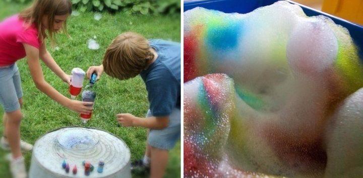 Как сделать много пузырей