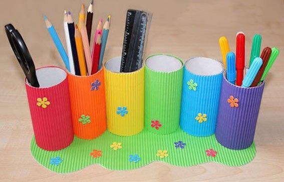 Стаканчик для карандашей из картона своими руками