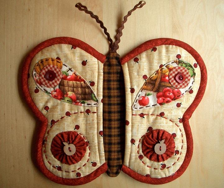 Прихватки бабочки своими руками из ткани