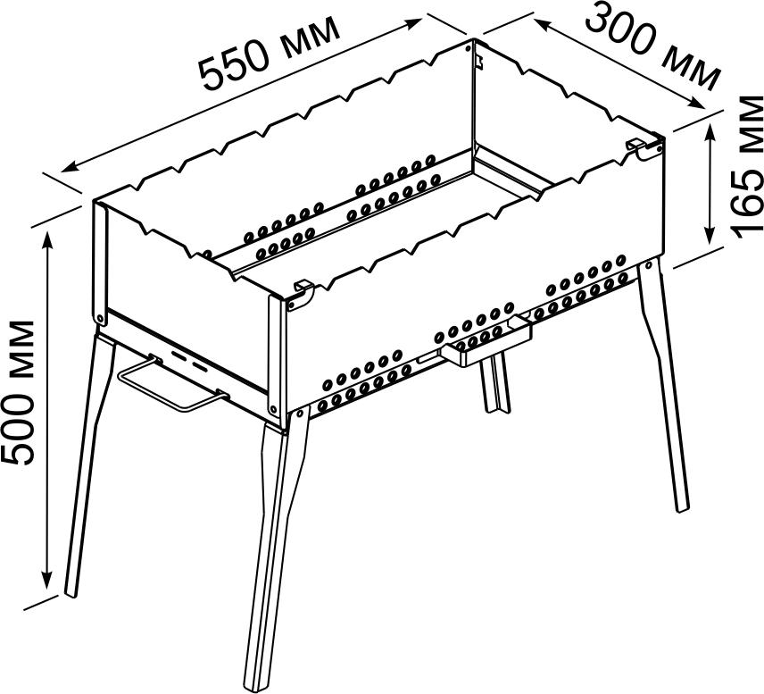 Разборные мангалы из металла размеры