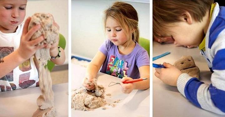 Кинетический песок для детей своими руками в домашних условиях 41