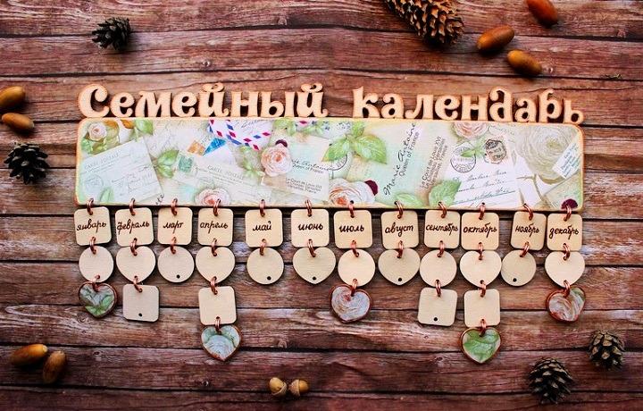 Сделать календарь своими руками с датами рождения 80