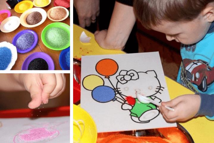 Как покрасить манку для поделок гуашью 35