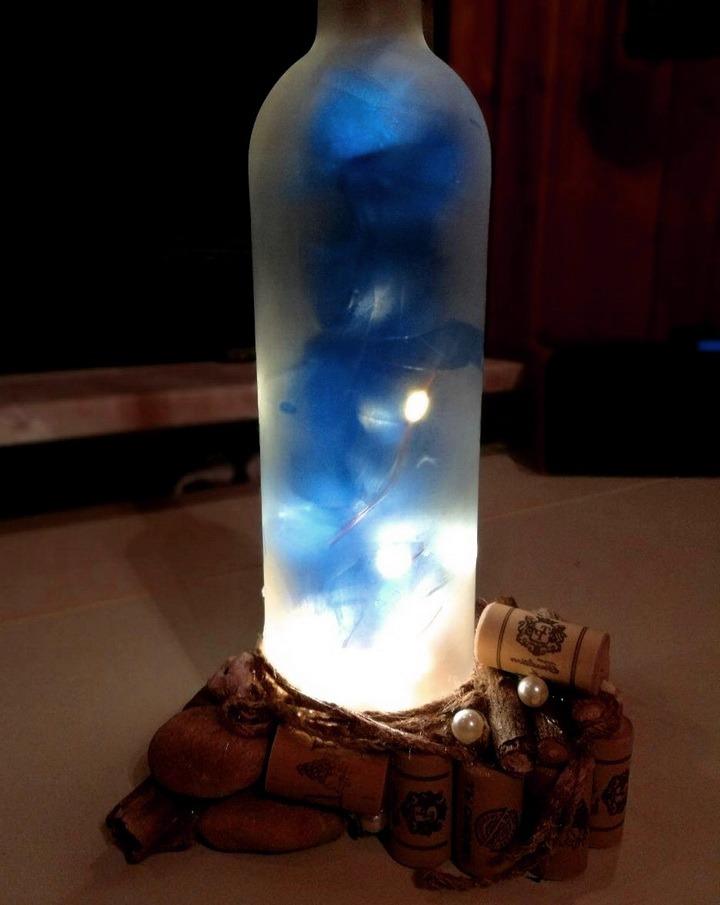 Из бутылки сделать ночник своими руками