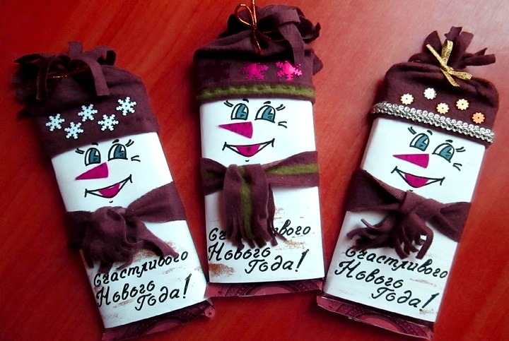 Обертки на шоколад своими руками