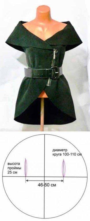 удлиненный жилет выкройка