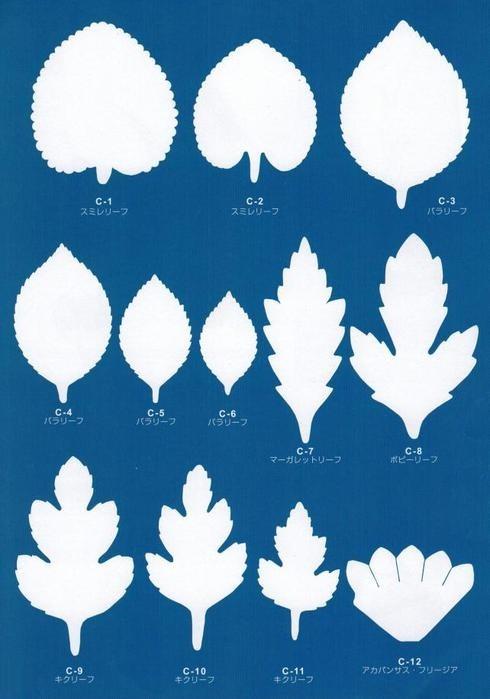 шаблоны цветы