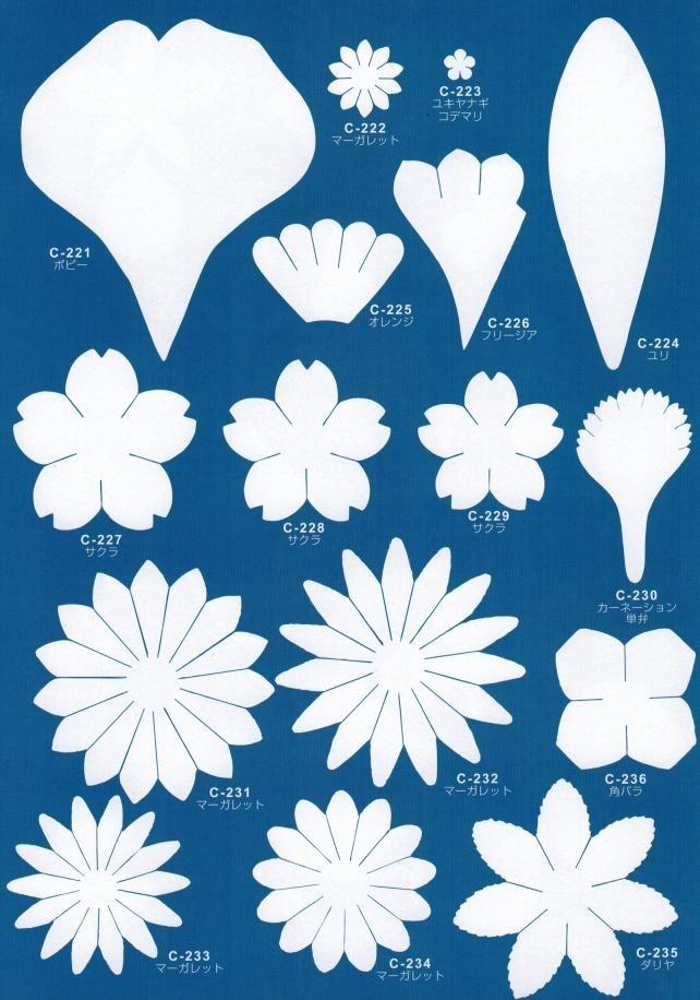 Фото шаблоны для цветов из фоамирана 71