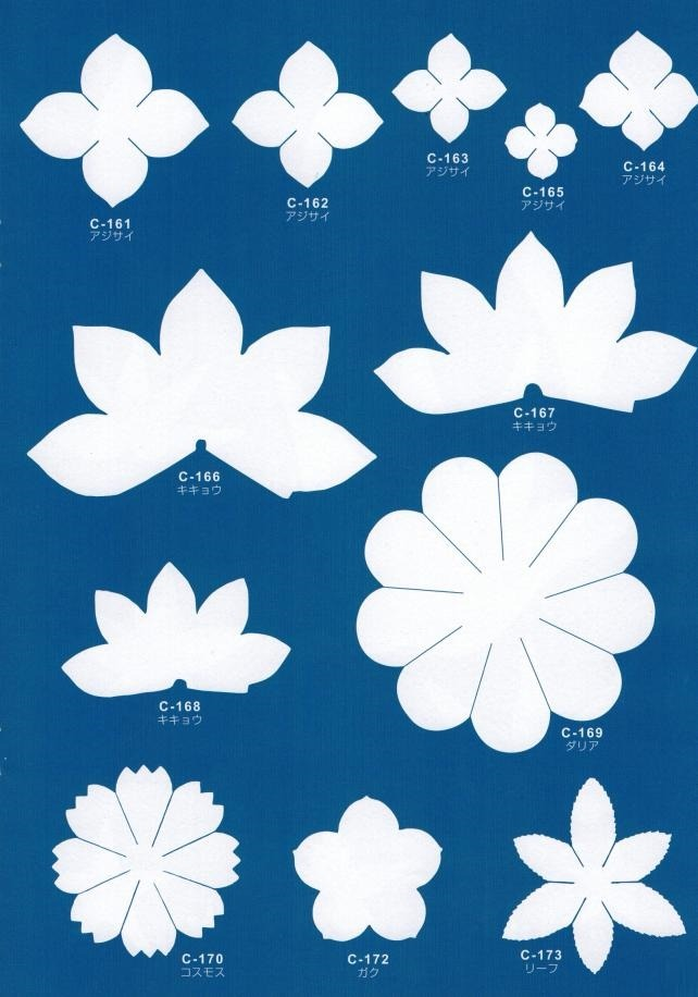 Трафарет для цветов из фоамирана