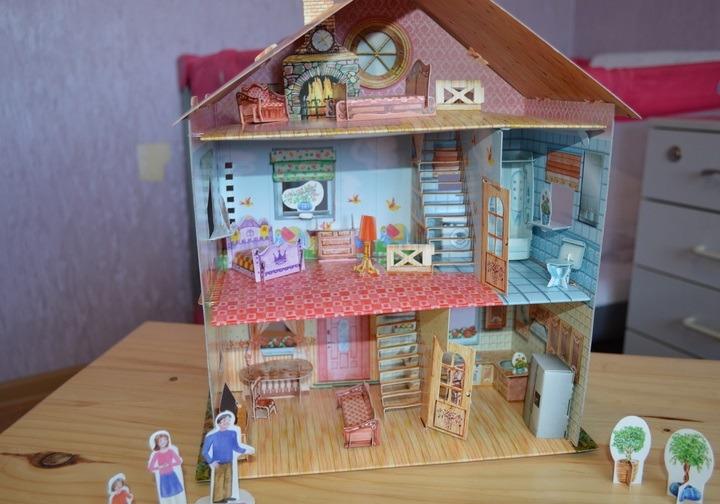 Сделать домик из коробки или картона своими руками фото 626