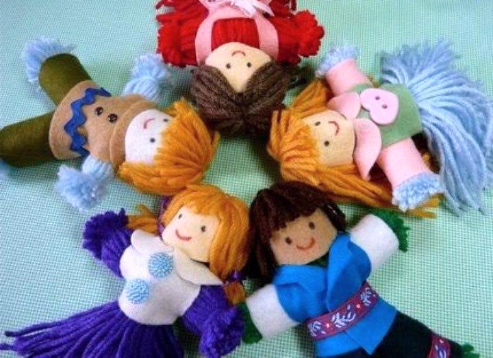 Куколки из ниток своими руками