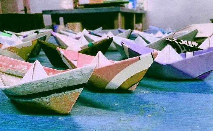 кораблики оригами