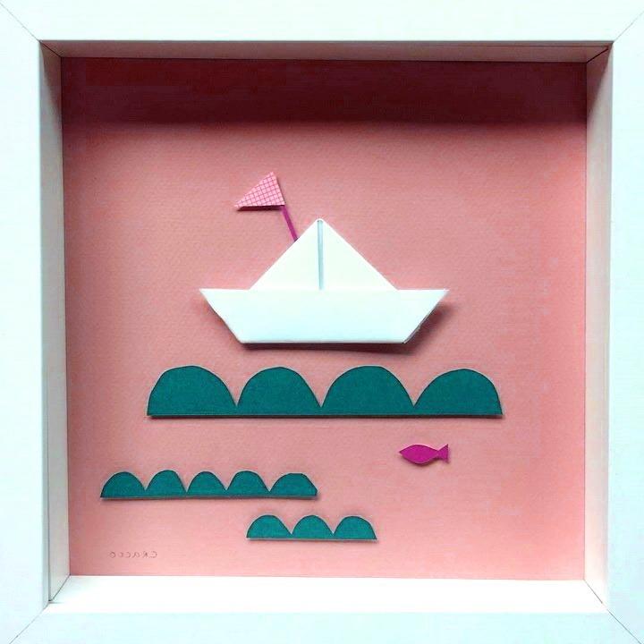 панно с корабликом