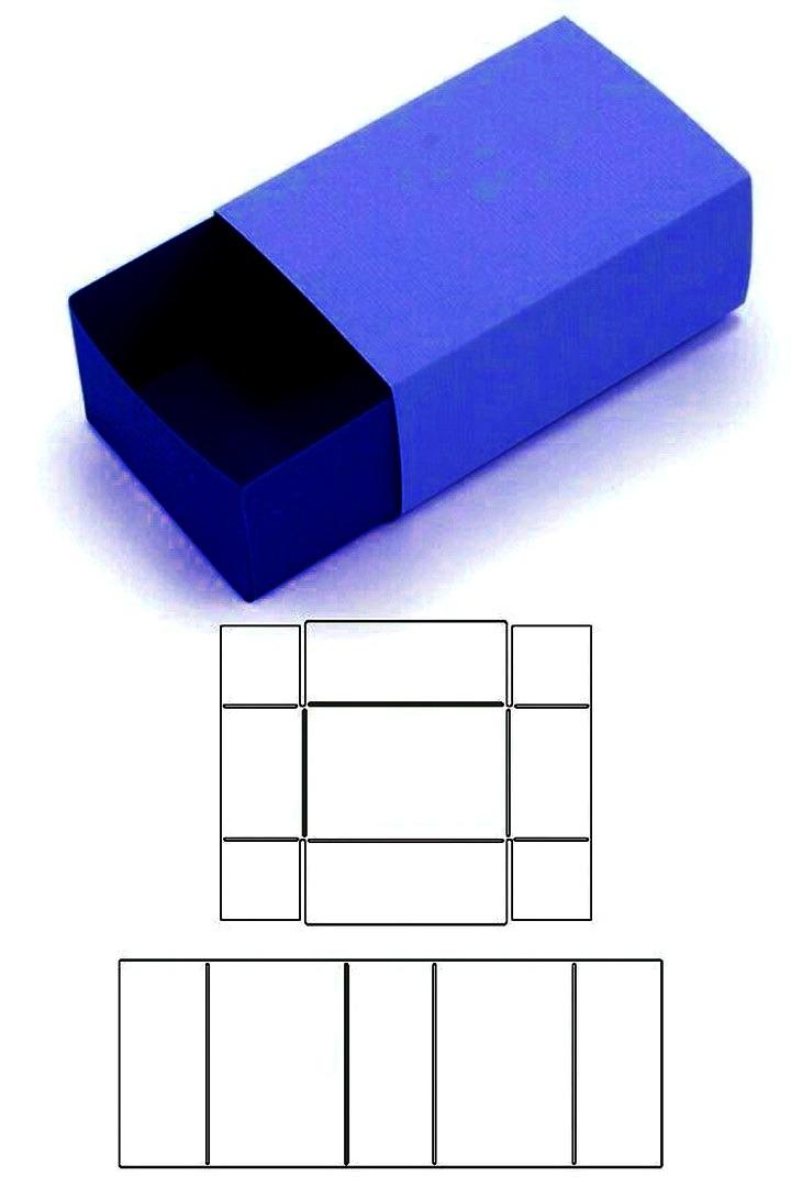 шаблон коробки