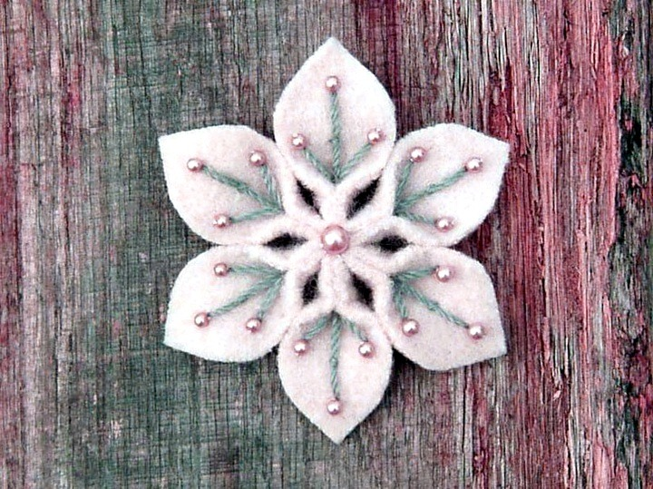 снежинка из ткани