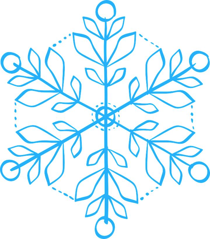 снежинка шаблон