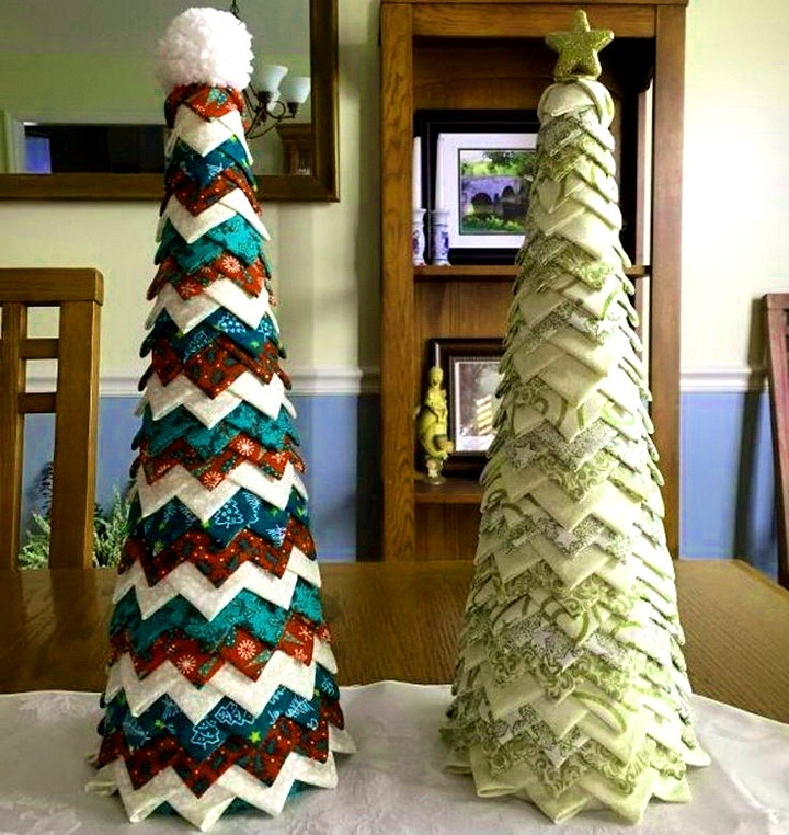 елки из ткани