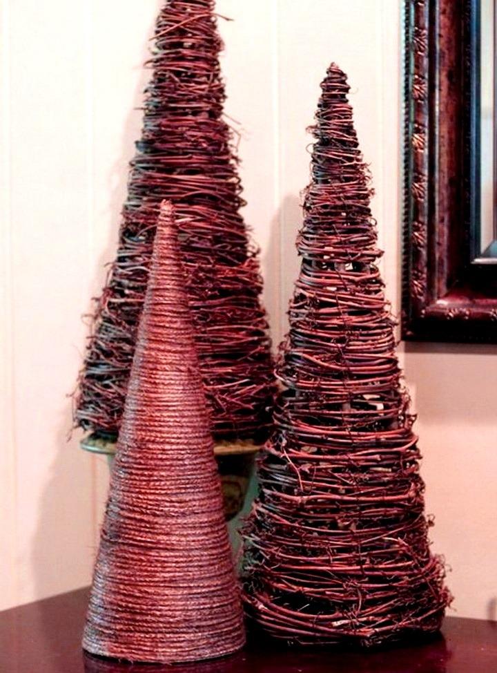 елки из проволоки