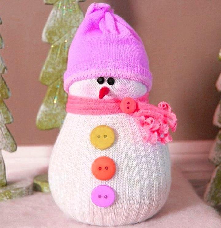 Как сделать снеговика из ваты фото 722
