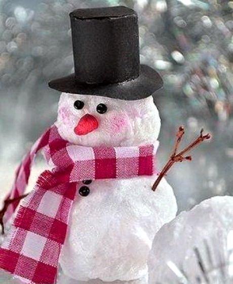 нас сделать снеговика из ваты года