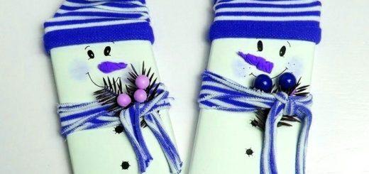 шоколадки снеговики