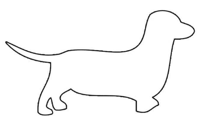 собака трафарет