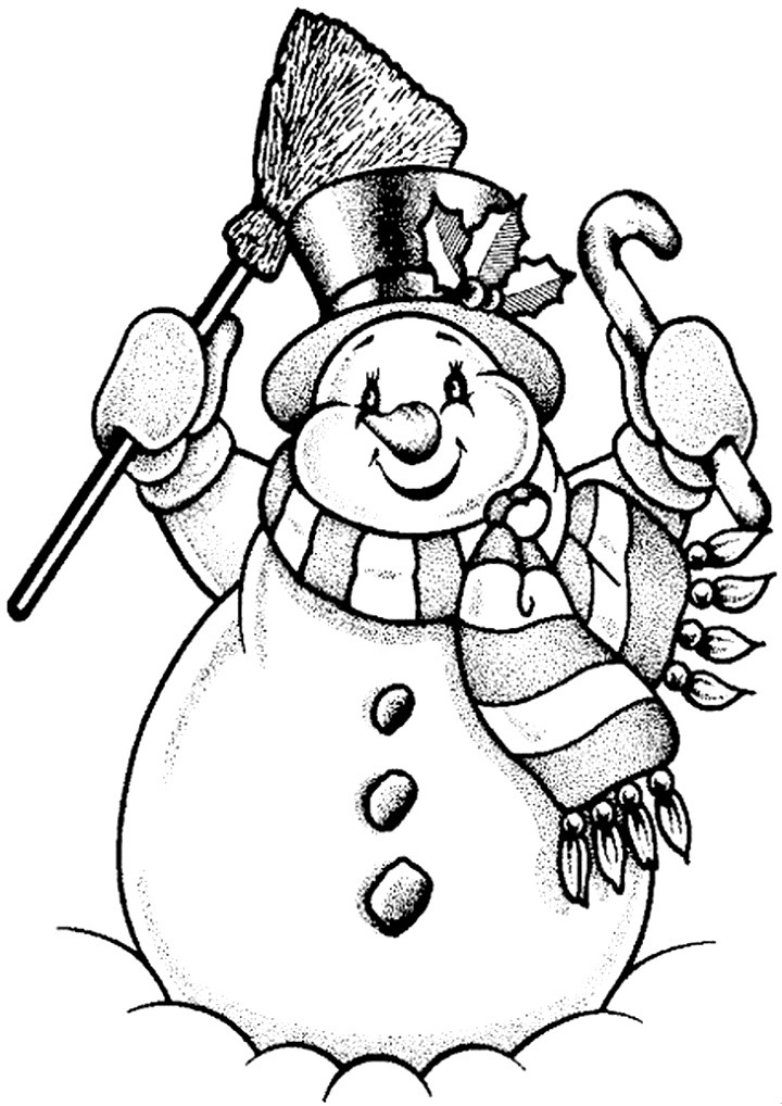 шаблон снеговика