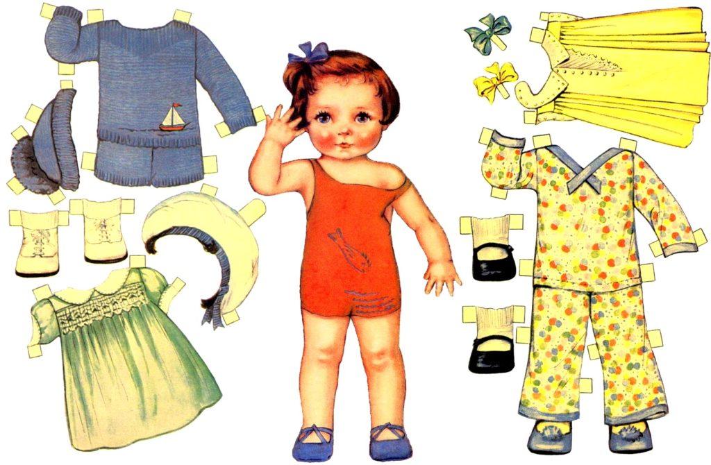 кукла-пупс и одежда