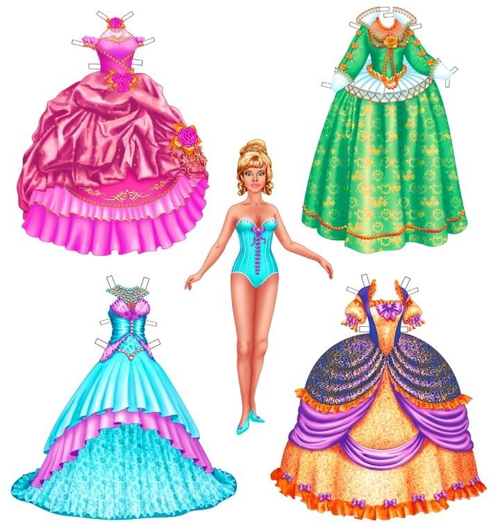 кукольные платья для принцессы