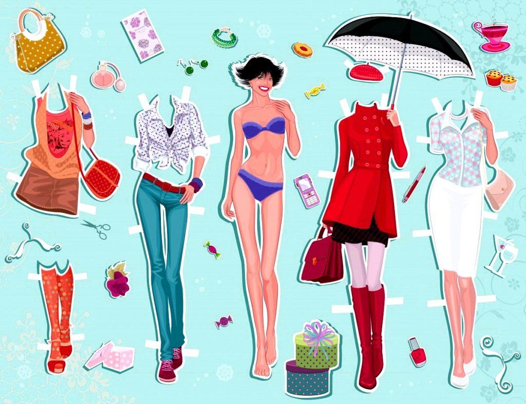 городские наряды для куклы