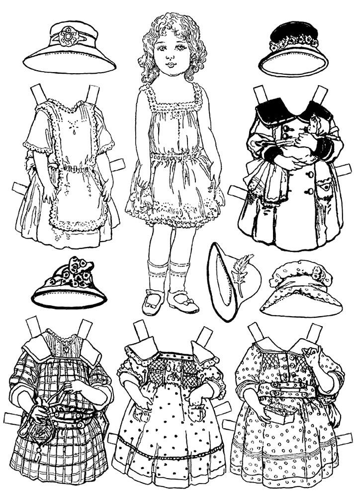 платья и шляпы для куклы