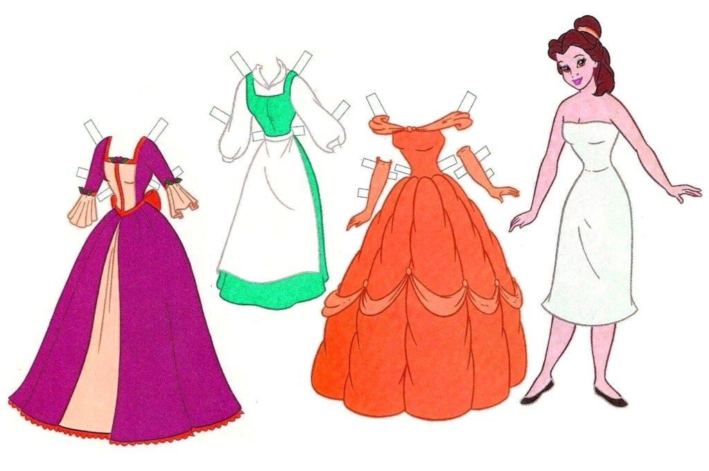 платья для куклы-принцессы