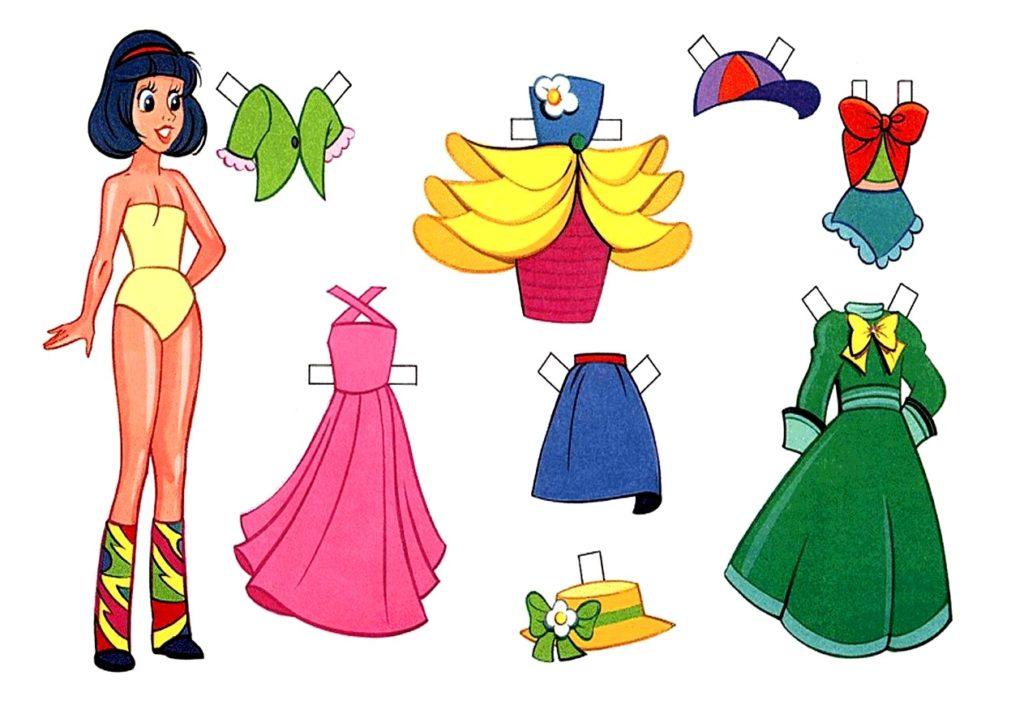 цветные платья для куклы