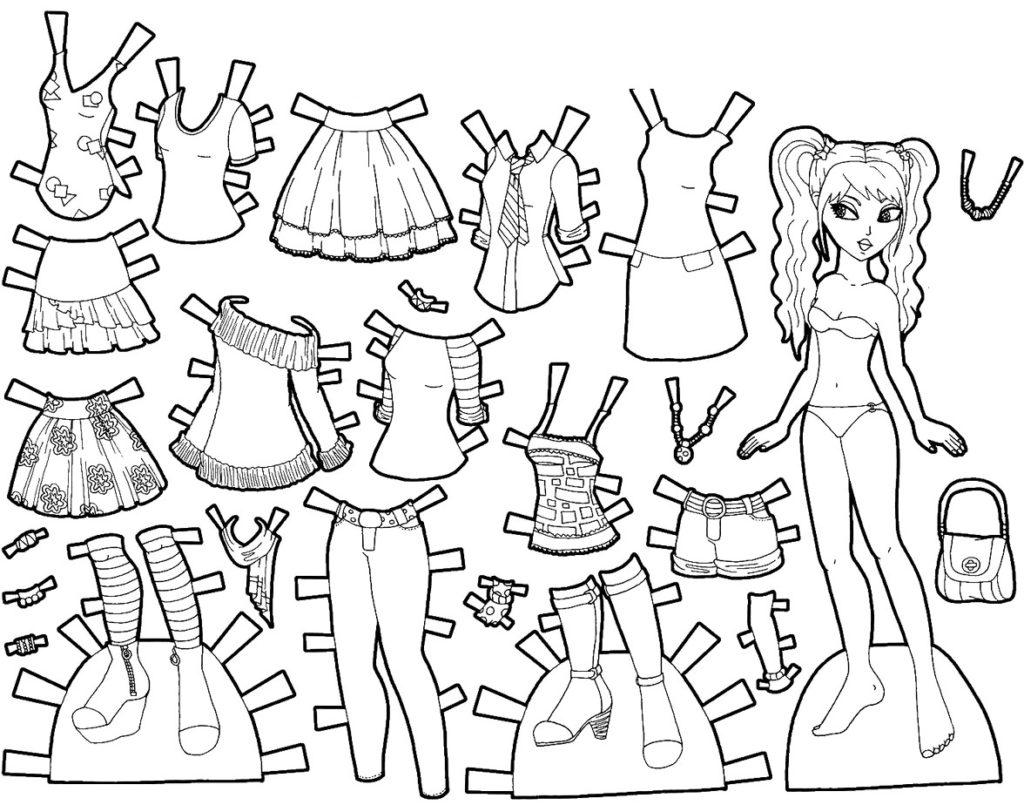раскрась одежду для девочки