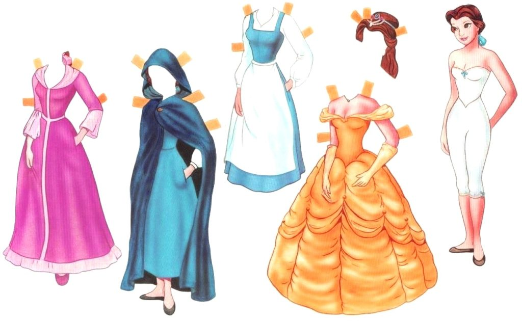 одежда для принцессы белл