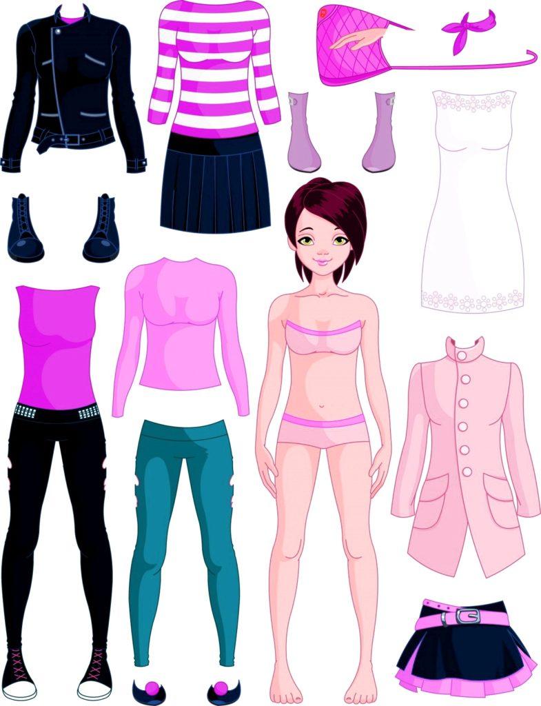 набор современной кукольной одежды