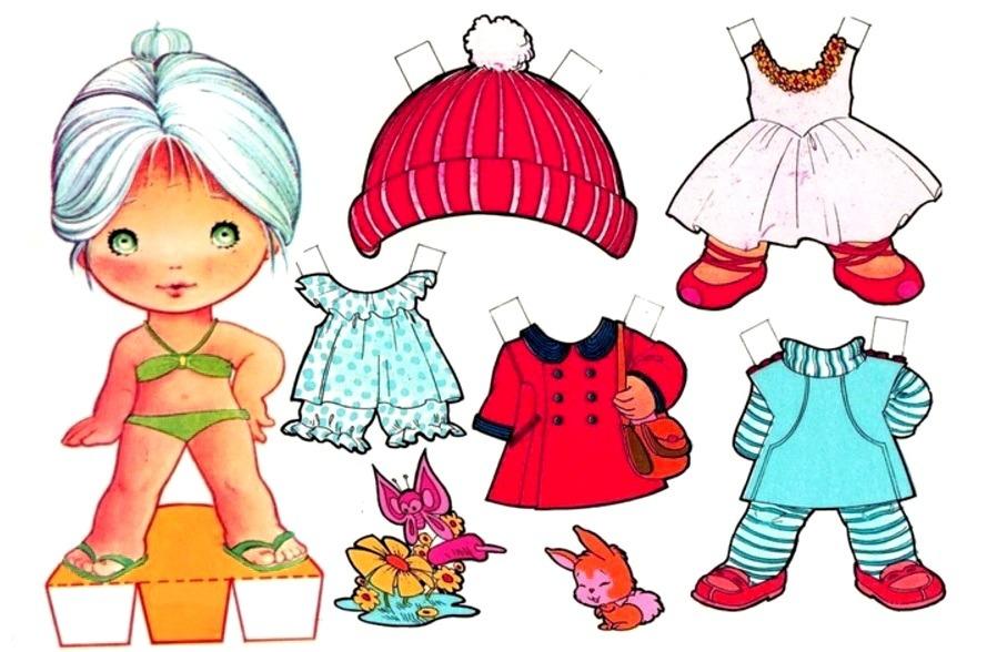 бумажная одежда для девочки