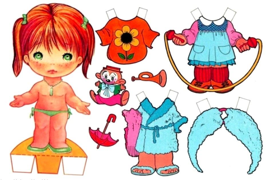 клоунский наряд для куклы