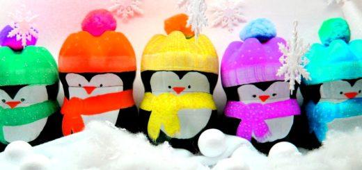 пингвины из бутылок