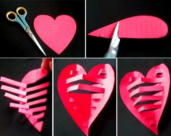 вырезаем валентинку