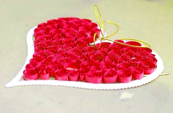 валентинка квиллинг