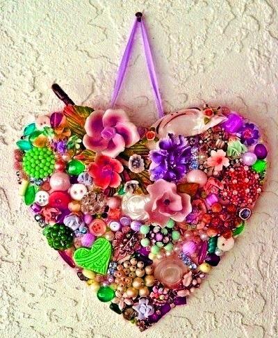 валентинка из бижутерии