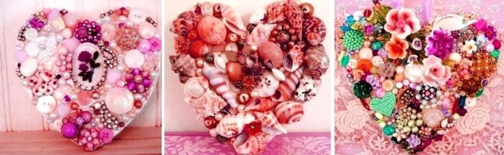 валентинки из бижутерии