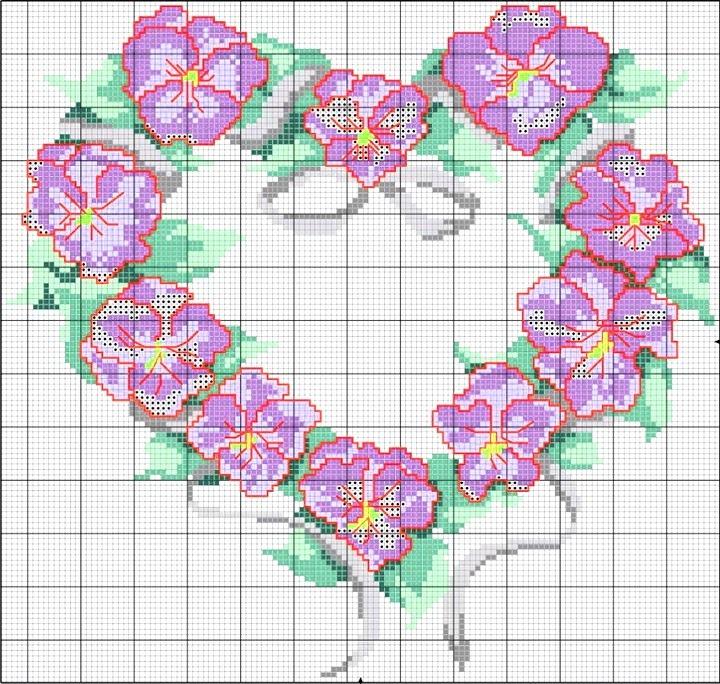 валентинка схема