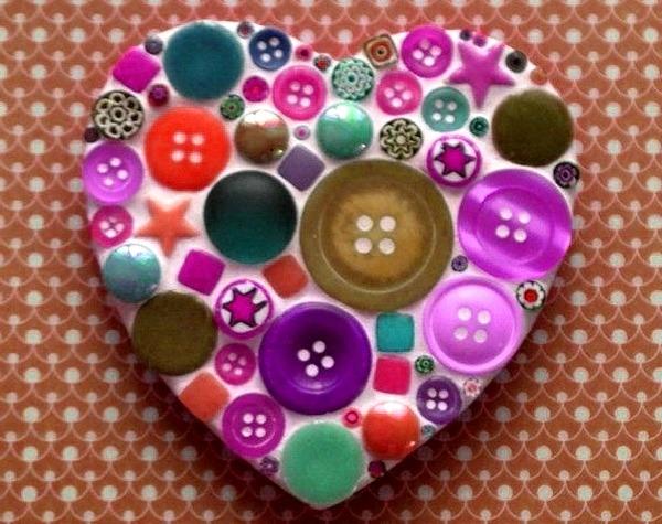 валентинка из гипса