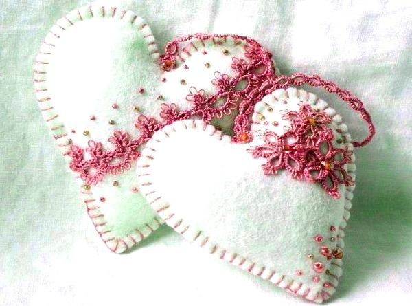 белые валентинки