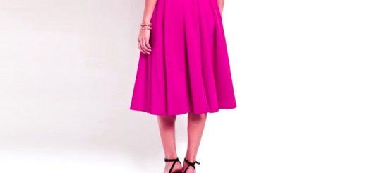 юбка со встречными складками