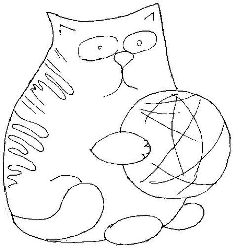 шаблон кота