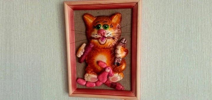 поделка кот с сосисками