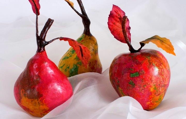 фрукты из папье-маше
